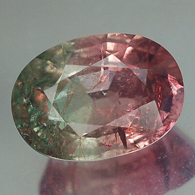 4.48Ct Stunning Aa Oval Watermelon Green & Pink Tourmaline Natural