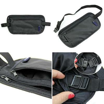 New Unisex Travel Security Zipped Money Bum Pouch Passport Waist Belt Bag Peachy