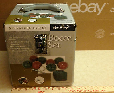 Brand New! Sportcraft Bocce Ball Set with Aluminum Case and Canvas Bag!