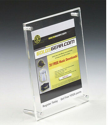 Acrylic Sign Holder Standoff Hardware Picture Frame Countertop Clear Sign Stand