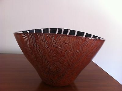 Tonga by Kosta Boda bowl hand painted