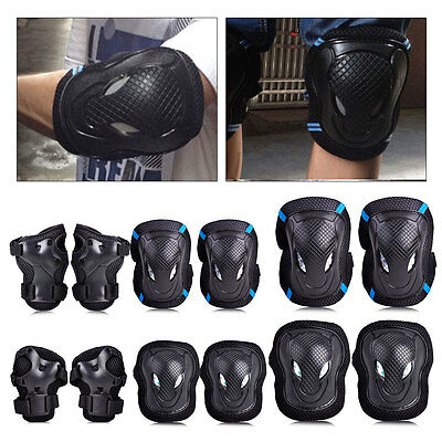 6x Kids Skateboard Skating Cycling Scooter Elbow Knee Wrist Protective Guard Pad