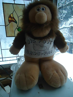 "VTG 1987 plush 14"" LIPTON tea / soup BIG FOOT gros - pas stuffed Mascot Doll"