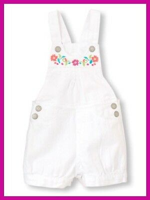 Toddler Girl's Children Place White Shortalls, Size 2T