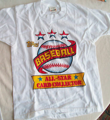 Topp's Baseball All-Star Card Collector T-Shirt --Childs Size 6-8