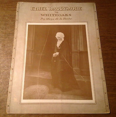 Vintage 1938 Ethel Barrymore in Whiteoaks Play Program Guide, Mazo de la Roche