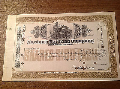 1900s Northern Railroad Company of New Jersey Stock Certificate