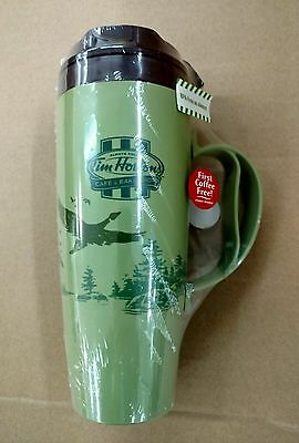 (Set Of 2) Tim Horton's Thermo Serve Insulated Plastic Travel Mug W/geese New