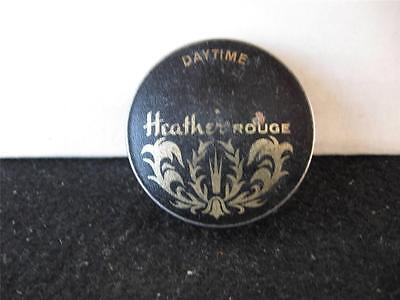 Vintage Heather Rouge-Makeup-Powder Tin With Puff