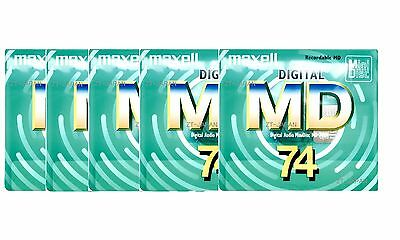 maxell Recordable MD MiniDiscs 74 Min High quality Made in Japan mini disk GREEN