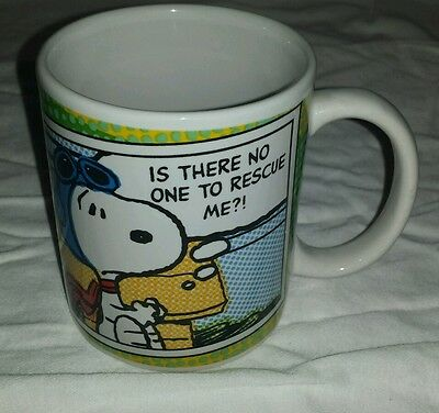 Gipson peanuts snoopy coffee mug is there no one to rescue me