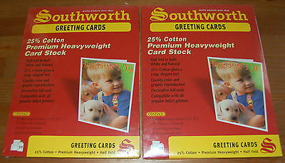 Southworth Greeting Cards 2 Packs of 20 25% Cotton