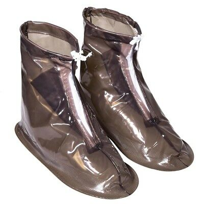 Reusable Waterproof Anti-slip w/ Zip Rain Boot Shoe Covers Protector Overshoes