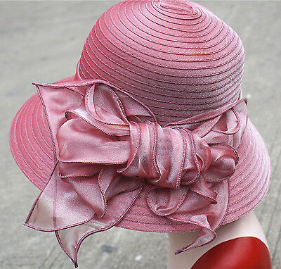 Womens ladies Dress Church Cloche Hat Kentucky Derby Foldable Beach sun Hat Y25