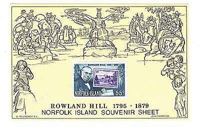 NORFOLK ISLAND 1979 Rowland Hill MS Mint Unhinged