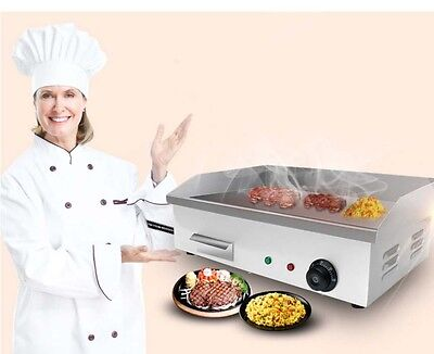 New Commercial Grilled Beef Steak Hot Plate BBQ Stainless Steel Electric Grill *