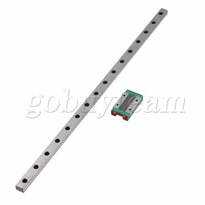 2pcs Silver 400mm MGN12 Linear Bearing Slide Rail with MGN12H Sliding Block
