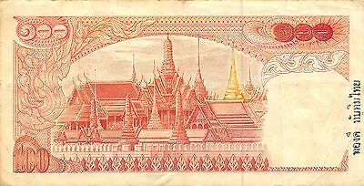 Thailand 100 Baht  ND. 1969  P 85a  Series 50 K  Sign. # 42 Circulated Banknote