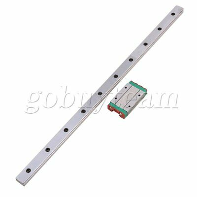 2pcs 40CM Silver MGN15 Extension Bearing Steel Linear Sliding Guide Rails+Block