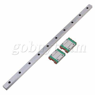 3PCS 400MM MGN15 Guide Linear Sliding Rails and Block for Linear Sliding Device