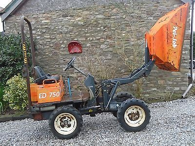 Pel-Job No Vat Ed750 Hi Tip Skip Loader  Dumper 4X4  Suit Mini Digger