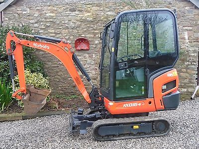 KUBOTA KX016-4 MINI DIGGER EXCAVATOR 1.6 ton 3 buckets suit dumper finance