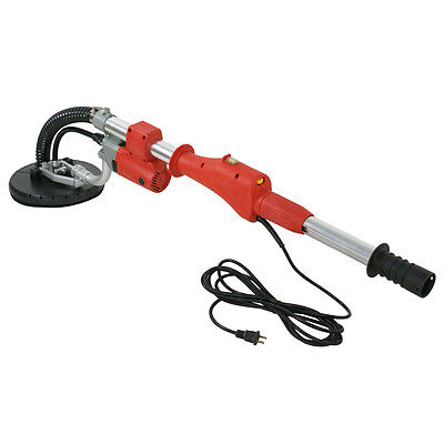 New Electric Drywall Sander Telescope Variable Speed With Sanding Pad 600W