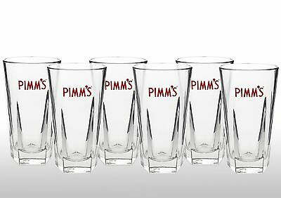 Pimm's Glasses With Pimm's Stirrers X 6 New