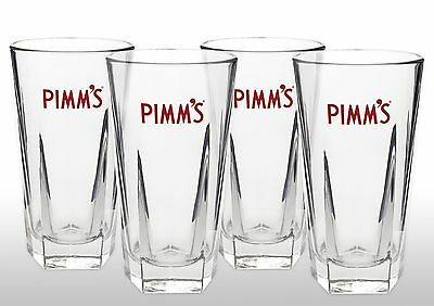 Pimm's Glasses With Pimm's Stirrers X 4 New