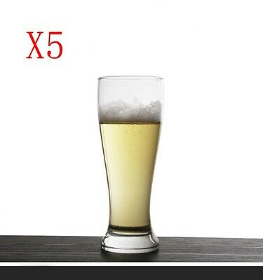 New 5X Capacity 425ML Height 192MM Transparent Beer Wine Glass/Glassware %