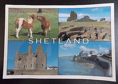 Jhb1 - Postcard - Various Views - Shetland - Used
