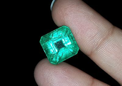 eBAY Natural 9.20 Ct Octagon Shape Certified Colombian Emerald Gemstone