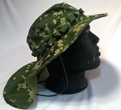 Russian Boonie Hat Neck Protection Detachable Tail Ripstop Flecktarn-d Pattern