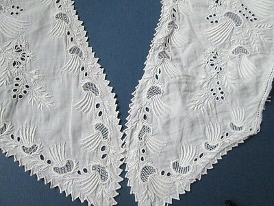 Beautiful Antique collar hand embroidered on linen/France