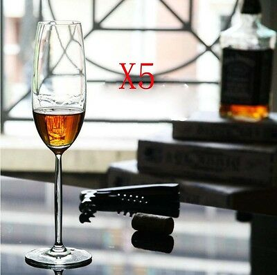 New 5X Capacity 219ML Height 253MM High Foot Champagne Wine Glass/Glassware %