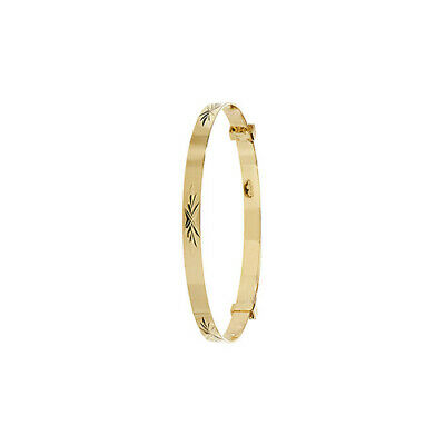 New 9ct Gold Expanding Patterned Baby Bangle 1.8 grams * Fully Hallmarked *