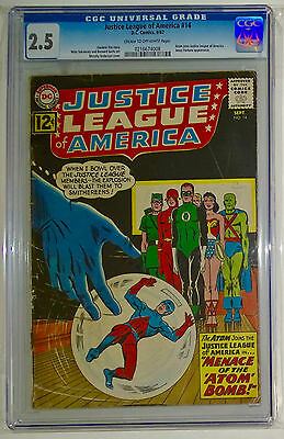 Justice League Of America #14-Cgc 2.5 G+ The Atom Joins Justice League