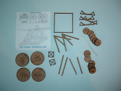 Two O scale 5 ft Cable Drums ( kit )