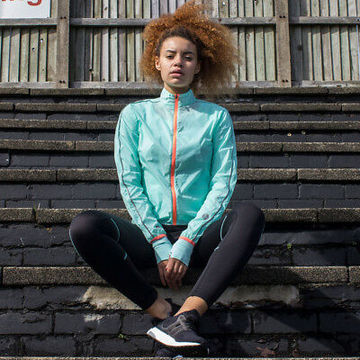 Higher State Mujer Azul Mangas Largas Completa Running Deporte Chaqueta Top