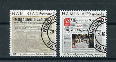 Namibia 2016 CTO Allgemeine Zeitung 100 Years 2v Set Newspapers Stamps