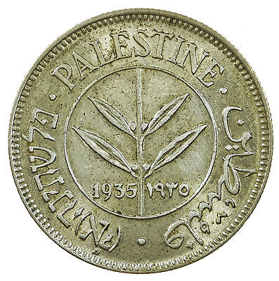Palestine, 50 Mils, Middle East, Silver, 1935