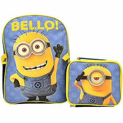 Despicable Me The Minions Deluxe Backpack and Lunch Bag Set School bag  NWT