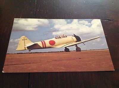 Zero Replica Japanese Fighter Plane Postcard