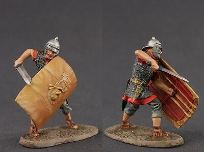 tin toy painted soldiers 54mm. roman legionary
