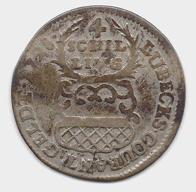 Germany States Coins -  1728 Lubeck   4 Schilling 1/8 Thaler