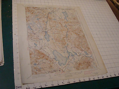 "Vintage Original Map: aprox 20X16"" OSSIPEE LAKE, New Hampshire 1938"