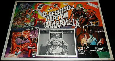 1941 Adventures of Captain Marvel ORIGINAL 60s LOBBY CARD Comics MEXICAN F