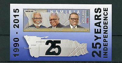 Namibia 2015 MNH 25 Years Independence Presidents Nujoma Geingob 1v M/S Stamps