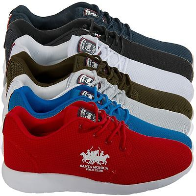Santa Monica Mens Designer Branded Trainers Lace Up Sports Shoes Footwear 7-11