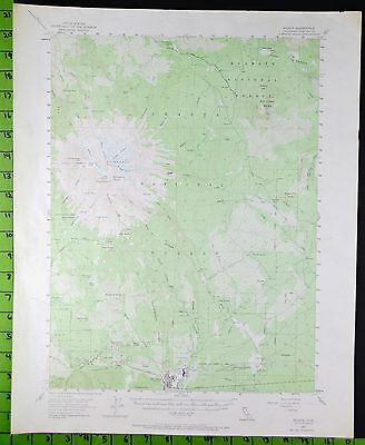 Shasta National parl California 1954 Antique Topographic Map 17x21 Inches